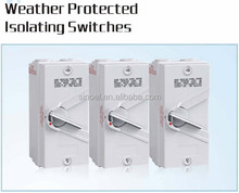 4 pole 63a IP66 weather protected isolating switches