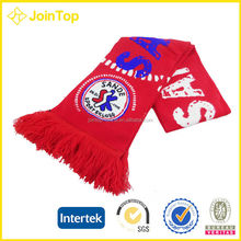 wholesale world cup party customized knitting scarf