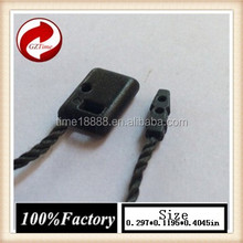 guangzhou garment factory denim trousers fashion plastic string tag Luggage and bags price tag black string pencil
