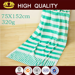 promotional organic cotton beach towels with high quality