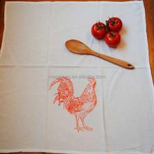 Screen Printed Organic Cotton tea towel