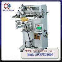 cylindrical flat shape bottle screen screen printing machine ASU300O