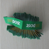 Post brand logo free end-fold little size high density woven label for clothing