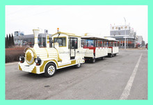 We manufacture electric trackless train for amusement park