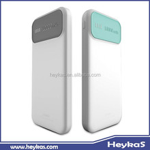Fashionable led indicate slim design power bank 10000mAh with RoHs CE FCC