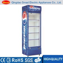 Vertical glass door electic display refrigerated showcase cooler refrigerator