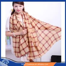 Newly Classic Style Double color checks Printed Lady Twill Cotton Scarf Shawl