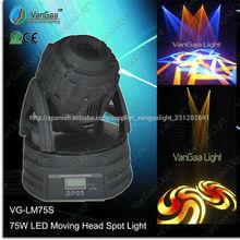Vangaa vg-lm75s 75w moviendo la cabeza de la barra de ktv del punto del led en movimiento la cabeza
