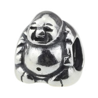 Wholesale Authentic 925 Sterling Silver Charm Maitreya the Happy Buddha For European Bracelet
