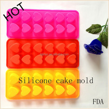 heart shaped useful Candy Ice/Cake/Chocolate/Sugar Craft Fondant Mold/Tray Silicone cake mould