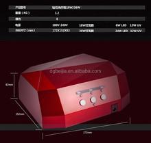 bulk cheap custom moon shape led uv nail lamp #00903