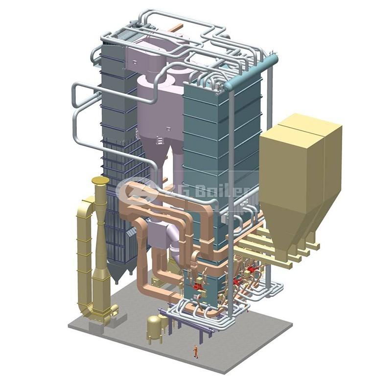 Cfb China Coal Fired High Pressure Industrial 50 Ton Steam Boiler ...