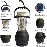 24 led solar powered camping lamp lantern 36 led solar hand camping light