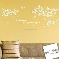 Removable birds 3d wall sticker living room decorative wall sticker for living room (8118) happiness is being home again