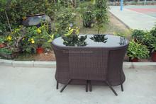 Modern luxurious rattan outdoor/indoor PE oval rattan table