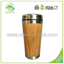 Hot-Saled Unique 16oz Bamboo/Wooden Travel Mug for Coffee