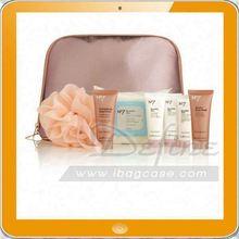 Satin material cosmetic bag