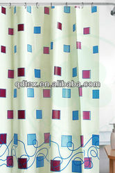 Poly-Cotton printed big patten shower curtain