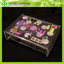 DDX-0071 ISO9001 Chinese Factory Made Cheap Acrylic Makeup Storage Box