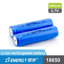 1X18650 lithium rechargeable battery W18*H65mm Size Lithium battery for e-cigarette