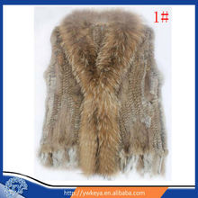 For Sale Fashion Knitting Women Rabbit And Raccoon Fur Vest