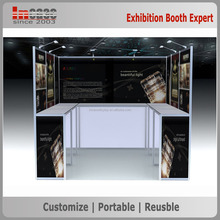 Portable tv trade show counter craft display stand