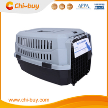 Chi-buy Fashion Pet Flight Carrier Plastic Pet Carrier Black and Gray Free Shipping on order 49usd
