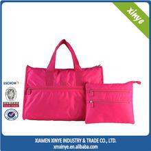 Clever Design Foldable Convenient Hand Bag Plain Travel Bag