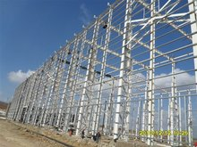 galvanized steel structure H columns for arch warehouse building