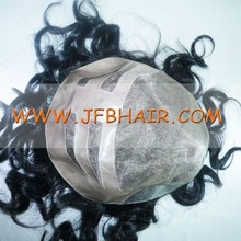 Human Hair Black which can be colored and Synthetic gray hair mixed color natural looking men's toupee