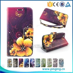 Luxury color printing crystal inlay wallet cover leather flip case for Huawei honor 4c,for Huawei G play mini case
