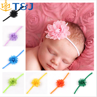>>> 2015 Newborn Baby Girls Satin Ribbon Flower Headbands Photography Props Infant Baby Headband children Accessories/