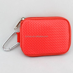 PU leather Essential oils pouch with big carabiner for 10 vials x 5/8 dram
