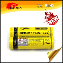Alibaba Manufacturer Latest Special 2000MAH 18650 40a battery ,For power banks Rechargeable Li-ion Battery