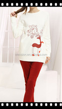 2016 Hot Sale New Style Cheap Christmas Pajamas For Couple