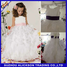 Ali-F923 2014 New Style Ball Gown Multi-layer Lovely Flower Girl Dress