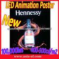 cartel llevado, flash, póster, mostrando cartel publicitario
