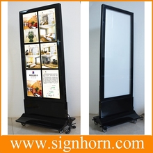 movable magnetic frame double sided free standing light boxes
