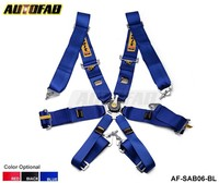 AUTOFAB - 2015 New 6-Point Racing Seat Belt / with 5 pcs FIA Approved Expiry 2020 AF-SAB06 Default color is Blue