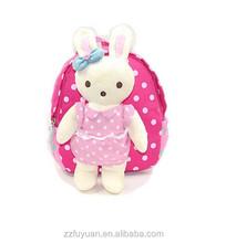 lovely rabbit dolls little girl safety harness backpack