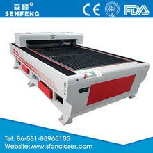 jinan factory supplies 1300*2500mm 150w co2 stainless steel laser cutting machine