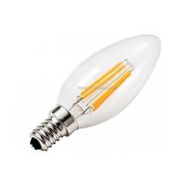 2W Torpedo Shape Filament LED Candle Bulb, 25W Incandescent Equivalent