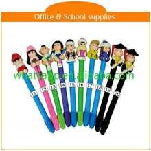 cartoon polymer clay ball pen China mechanical pencil pen