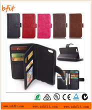 Mobile Phone Accessories For iphone 6,wallet leather case for iphone 6,stand holder case for iphone 6