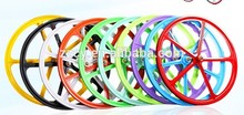 700c cinco radios de artes fijos de la bicicleta de rueda mag