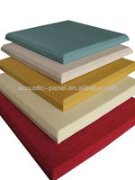 fabric wrapped bevelled edge acoustic panels/soundproofing material low price