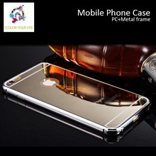 New Arrive Magic Mirror cellphone case for iPhone 6 case, for iPhone 6 plus Metal Bumper Case