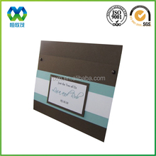 Dark brown personalised design CD packaging sleeves can be customized