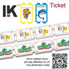 Single line game ticket,perforation ticket used in game machine/amusement arcade,trade assurance