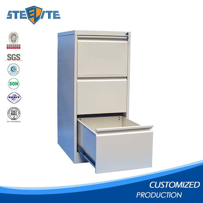 Kd structure lockable drawer cabinet used steel storage